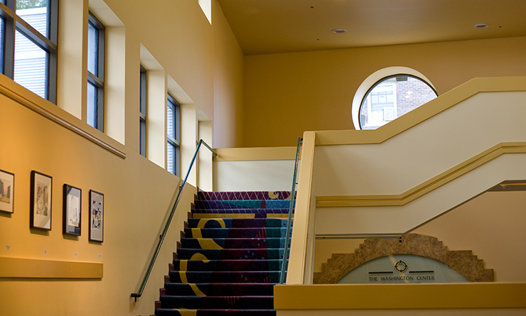 Washington Center Mezzanine stairs