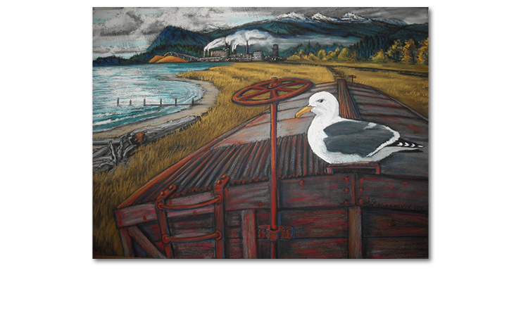 Seagull with Boxcar - M.W. Lindenmeyer