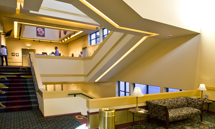 Washington Center Grand Staircase from the Loge